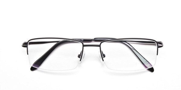 Black Half Rim Glasses - 6
