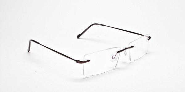Rimless Glasses in Brown for Men & Women- 2