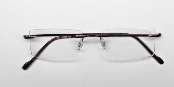 Rimless Glasses in Brown for Men & Women- 5