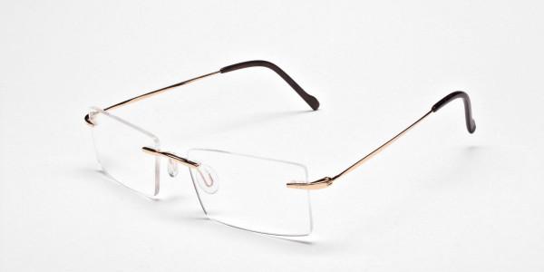 Rimless Glasses in Gold for Men & Women - 3