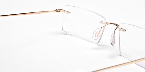 Rimless Glasses in Gold for Men & Women - 5