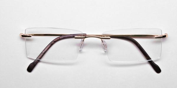 Rimless Glasses in Gold for Men & Women - 6
