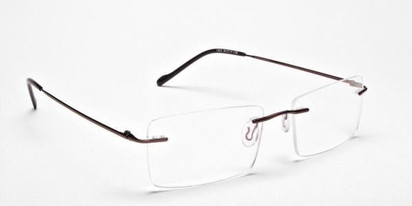Rimless Glasses in Brown for Men & Women -2
