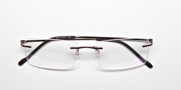Rimless Glasses in Brown for Men & Women -6