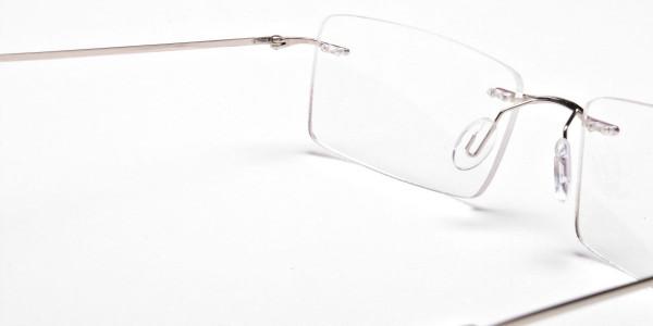 Rimless Glasses in Silver for Men & Women - 5