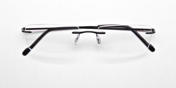 Rimless Glasses in Black for Men & Women - 6