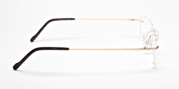 Rimless Glasses in Gold for Men & Women -4