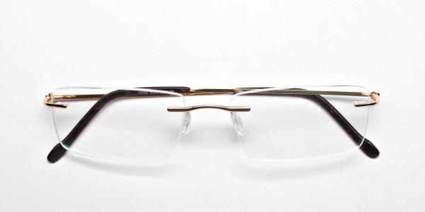 Rimless Glasses in Gold for Men & Women -6