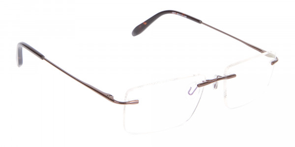 Invisible Brown Rimless Frames Online UK -2