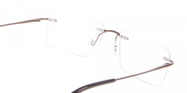 Invisible Brown Rimless Frames Online UK -5