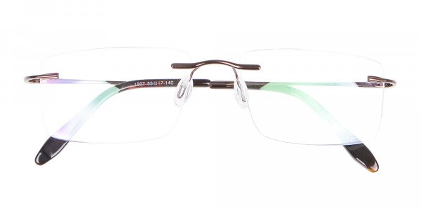 Invisible Brown Rimless Frames Online UK -6
