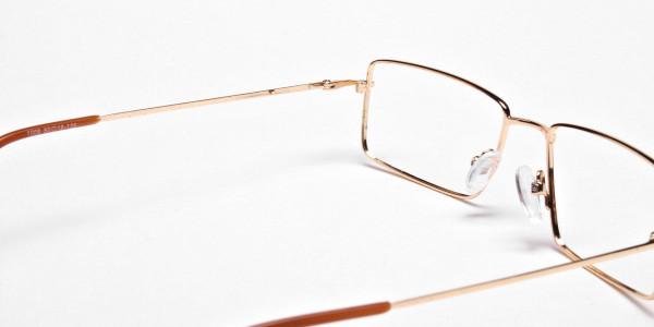 Rectangular Glasses in Gold, Eyeglasses - 5