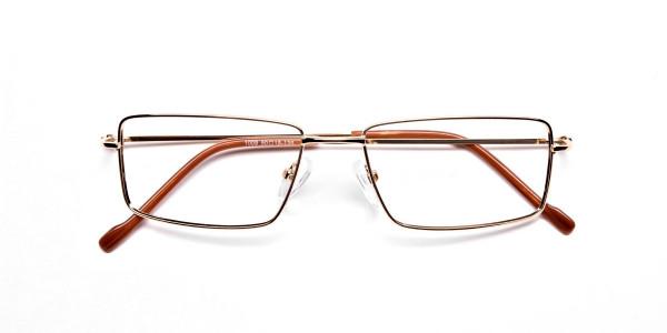 Rectangular Glasses in Gold, Eyeglasses - 6