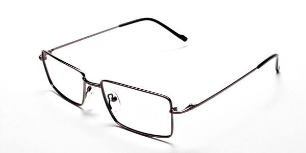 Rectangular Glasses in Gunmetal - 3