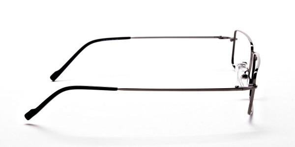 Rectangular Glasses in Gunmetal - 4