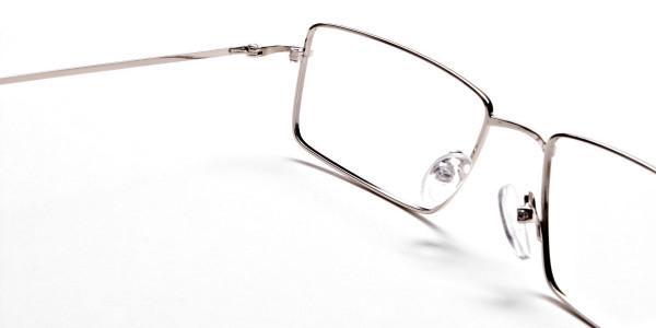 Rectangular Glasses in Silver, Eyeglasses -5
