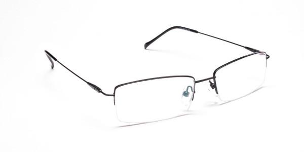 Sleek - Black Rectangular Glasses -2