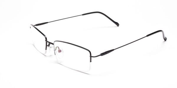 Sleek - Black Rectangular Glasses -3