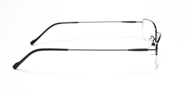 Sleek - Black Rectangular Glasses -4