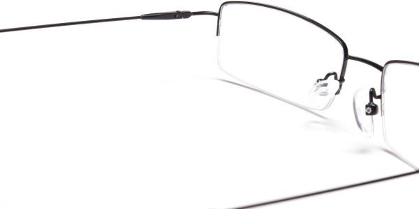 Sleek - Black Rectangular Glasses -5