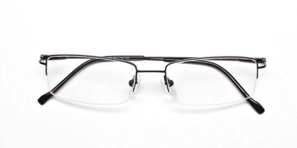 Sleek - Black Rectangular Glasses -6