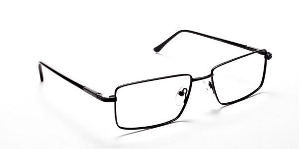 Black Full Rim Metal Glasses - 2