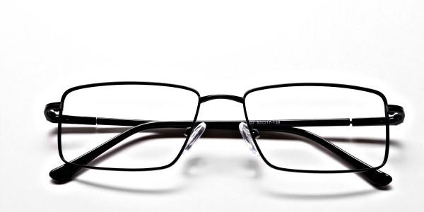 Black Full Rim Metal Glasses - 6