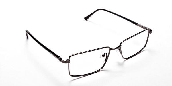 Rectangular Eyeglasses in Gunmetal, Eyeglasses - 2