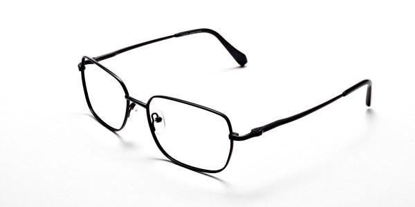 Rectangular Eyeglasses in Black, Eyeglasses - 3