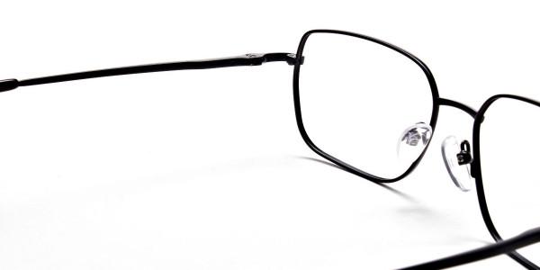 Rectangular Eyeglasses in Black, Eyeglasses - 6