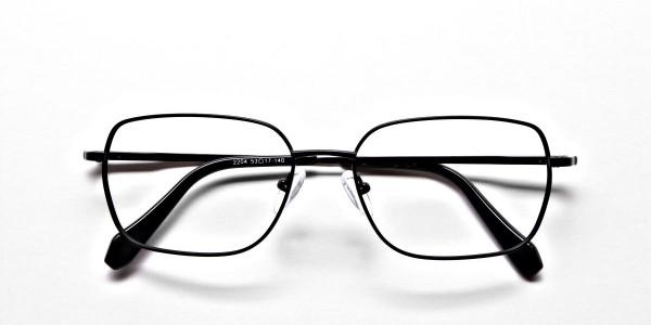 Rectangular Eyeglasses in Black, Eyeglasses - 7
