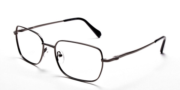 Rectangular Eyeglasses in Gunmetal, Eyeglasses - 3