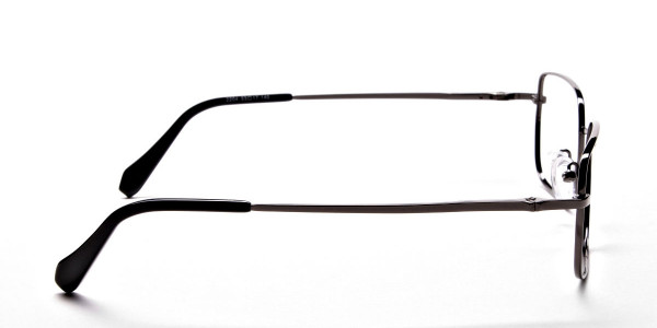 Rectangular Eyeglasses in Gunmetal, Eyeglasses - 4