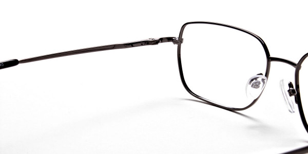 Rectangular Eyeglasses in Gunmetal, Eyeglasses - 6