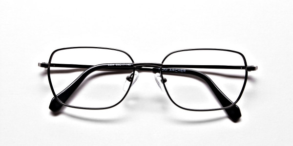 Rectangular Eyeglasses in Gunmetal, Eyeglasses - 5