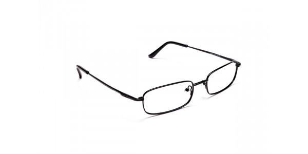 Rectangular Eyeglasses in Black, Eyeglasses - 2