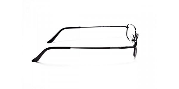 Rectangular Eyeglasses in Black, Eyeglasses - 4