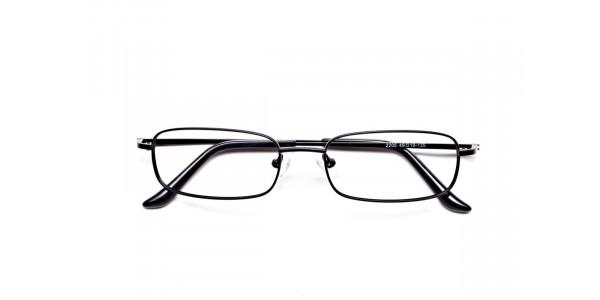 Rectangular Eyeglasses in Brown, Eyeglasses - 6