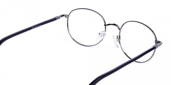 round titanium eyeglass frames-5