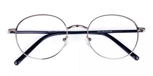 round titanium eyeglass frames-6