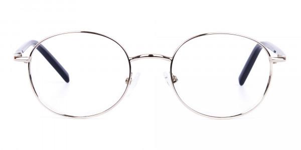 titanium round glasses-1