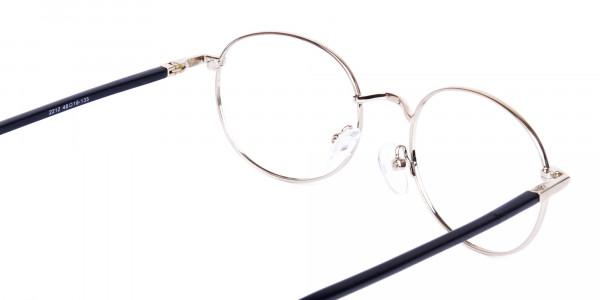 titanium round glasses-5