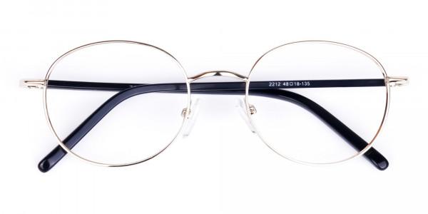 titanium round glasses-6