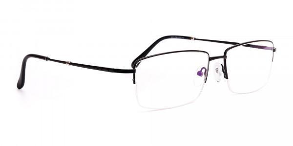black-rectangular-metal-half-rim glasses-frames -2