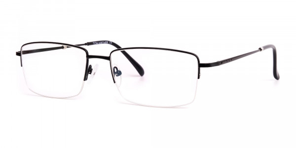 black-rectangular-metal-half-rim glasses-frames-3
