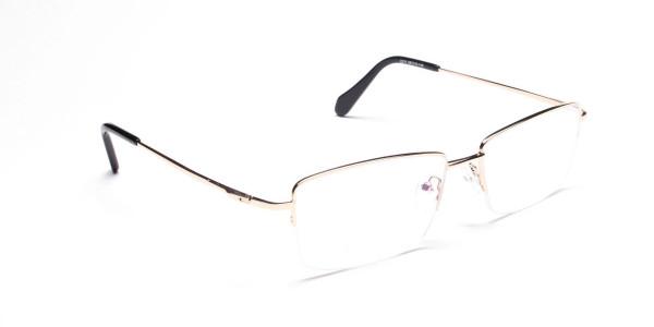 Gold Half-Rim Spiffy Frames -2
