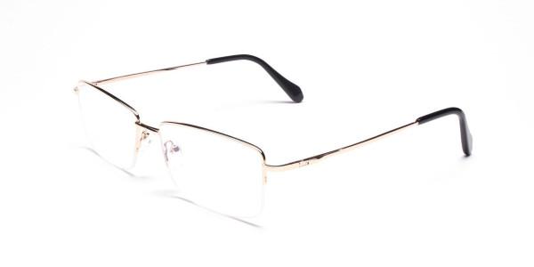 Gold Half-Rim Spiffy Frames -3