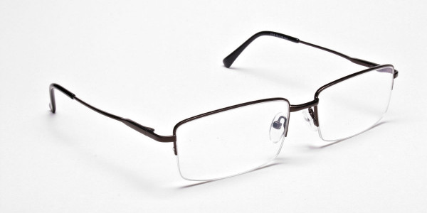 Rectangular Glasses in Brown, Eyeglasses - 2