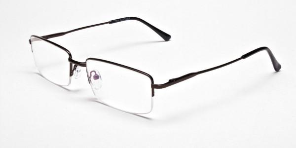Rectangular Glasses in Brown, Eyeglasses - 3