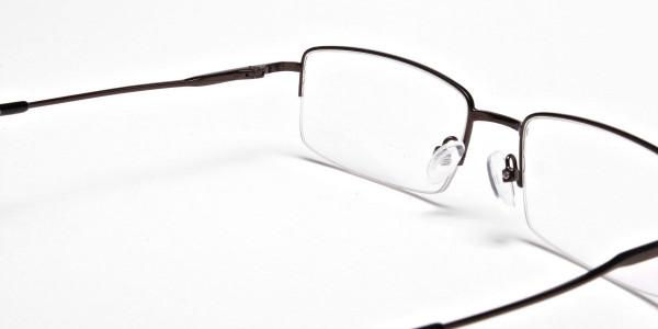 Rectangular Glasses in Brown, Eyeglasses - 5